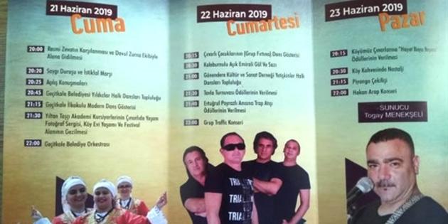 """""""9. Çınarlı Kültür Ve Sanat Festivali"""" 21-23 Haziran'da"""