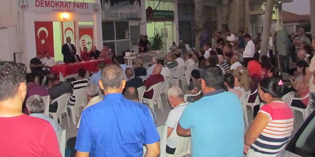 DP Lefkoşa İlçe Başkanlığı Heyeti Alayköy'ü ziyaret etti