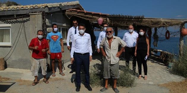 Tarım Bakanı Oğuz Esentepe ve Tatlısu balıkçı barınaklarında incelemelerde bulundu