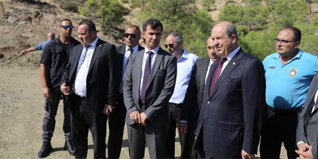 Başbakan Tatar, Lefke'de CMC atıklarının yarattığı kirliliği yerinde inceledi