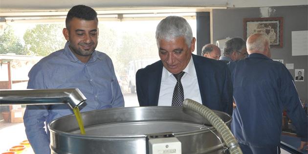 Özçınar bölgedeki zeytinyağı fabrikalarını ziyaret etti