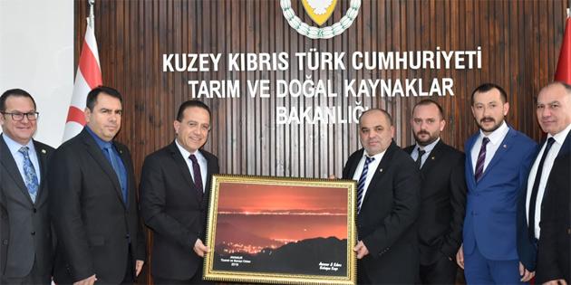 Tarım Bakanı Şahali, Anamur Ticaret ve Sanayi Odası heyetini kabul etti