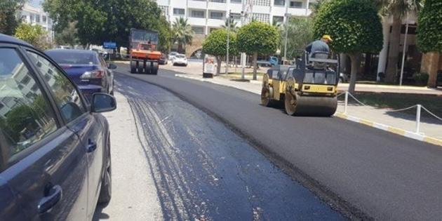 Girne'de hafta sonu asfalt çalışması yapılacak