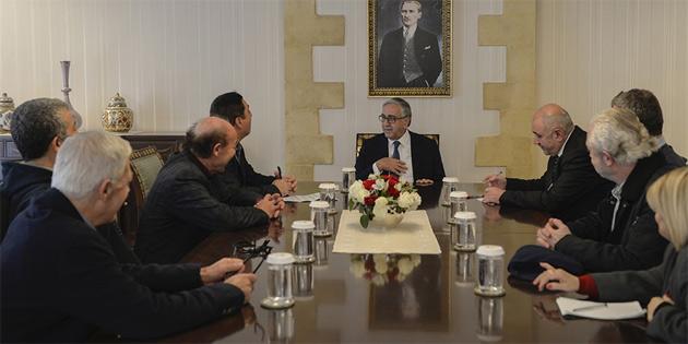 Akıncı Güney Kıbrıs'tan OPEK yetkililerini kabul etti