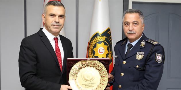 Meclis Başkanı Uluçay Polis Genel Müdürü Manavoğlu'nu ziyaret etti