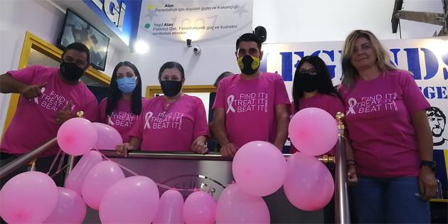 KKTC Fenerbahçeliler Derneği ile KHYD iş birliğiyle meme kanserine dikkat çekildi