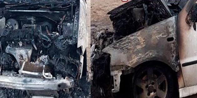 Haspolat'ta Ferdi Celepçi'ye ait araç ateşe verildi