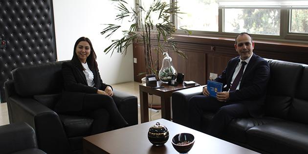 İçişler Bakanı Baybars, Lefkoşa Belediye Başkanı Harmancı'yı kabul etti