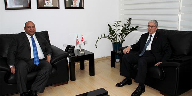 TC LEFKOŞA BÜYÜKELÇİSİ KANBAY, ATAKAN'I ZİYARET ETTİ
