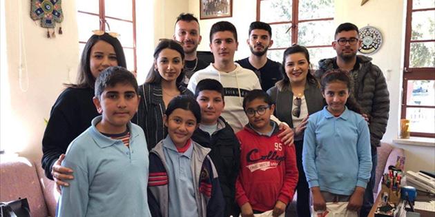 UBP Lefke İlçe Gençlik Kollarından Lefke ilkokullarındaki ihtiyaçlı çocuklara bağış