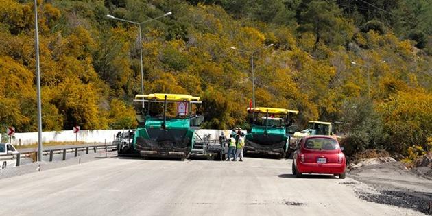 Lefkoşa-Girne anayolu yol bakım onarım çalışmalarının ikinci etabı başlıyor