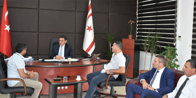 Tarım ve Doğal Kaynaklar Bakanı Oğuz, Kıbrıs Türk Veteriner Hekimler Sendikası'nı kabul etti