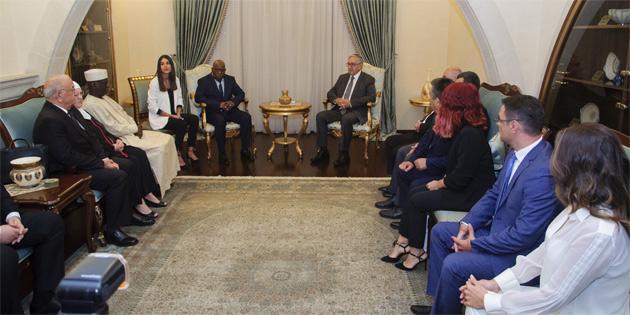 Cumhurbaşkanı Akıncı yabancı parlamenter heyetini kabul etti