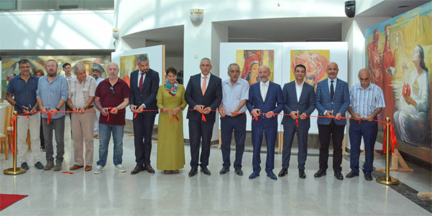 Türkmenistanlı sanatçılar Annadurdy Myradaliev ile Aynagozel Nuryeva'nın sergileri açıldı