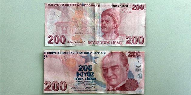 Sahte 200 TL'lik banknotlara DİKKAT...