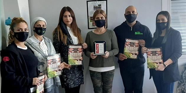 Kanser Hastalarına Yardım Derneği Girne Evkaf İyilik Gönüllülerine teşekkür etti