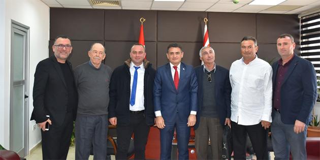 Tarım Bakanı Oğuz Yeni Karpaz Derneği heyetini kabul etti