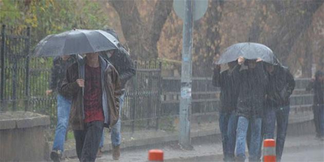 """""""Sağanak ve gök gürültülü sağanak yağışlar yer yer etkili olacak"""""""