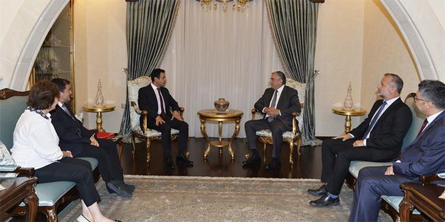 Türkiye ve KKTC Çevre Mühendisleri Odalarının yöneticilerini kabul etti