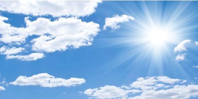 Bayramda hava açık az bulutlu