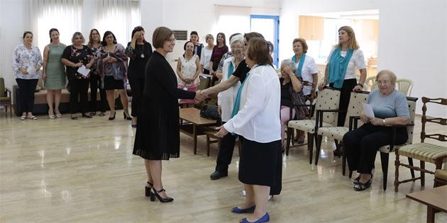 Meral Akıncı, Kıbrıs Türk Kız İzci Örgütü'nün genel kuruluna katıldı