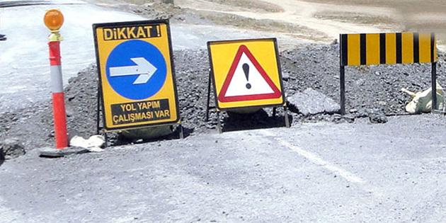 Okullar yolu kavşağı ile sivil savunma arasındaki yol trafiğe kapanacak