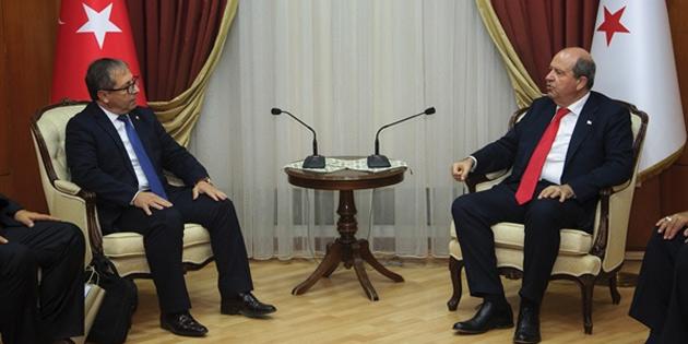 Başbakan Tatar, Milli Olimpiyat Komitesi heyetini kabul etti