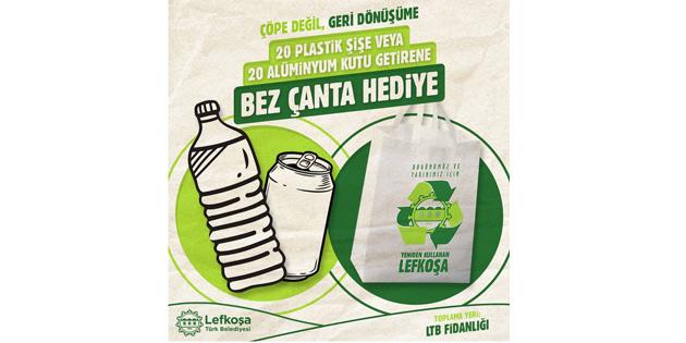 LTB'den, 20 plastik şişe veya 20 alüminyum içecek kutusu getirene bez çanta