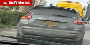 Trafik güvenliğini tehdit eden araç vatandaşın kamerasından kaçamadı