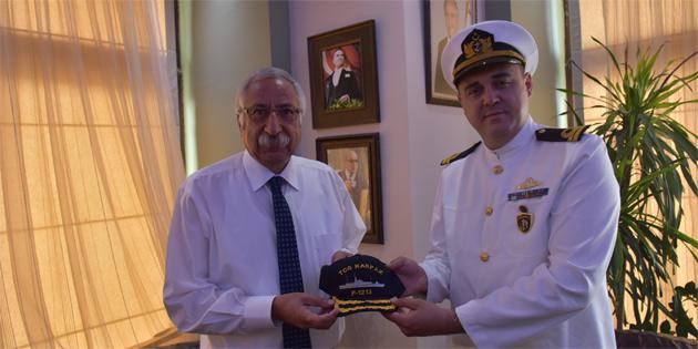 Güngördü, TCG Karpaz Gemisinin Komutanı Deniz Yüzbaşı Serhan Bilgin'i ağırladı