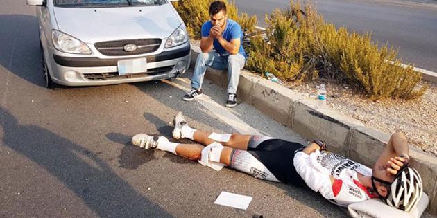KKTC'nin lisanslı sporcusuna Bodrum'da araba çarptı!