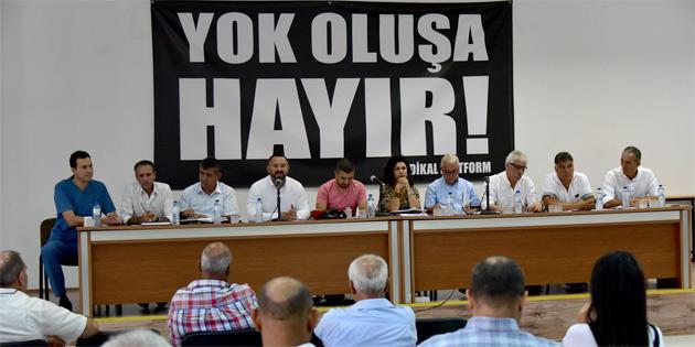 """Sendikal Platform: """"İktisadi ve mali işbirliği anlaşması siyasi içerikli bir dayatma"""""""