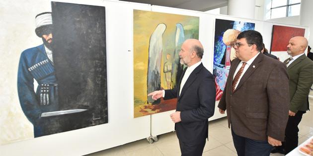 Dağıstan resim sanatçıları ile Kırgızistan resim sanatçılarının iki ayrı karma resim sergisi Berova tarafından açıldı