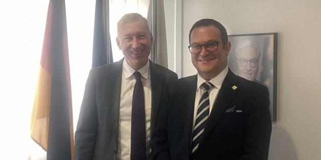 KTTO Başkanı Deniz, Fransa ve Almanya Büyükelçileriyle görüştü