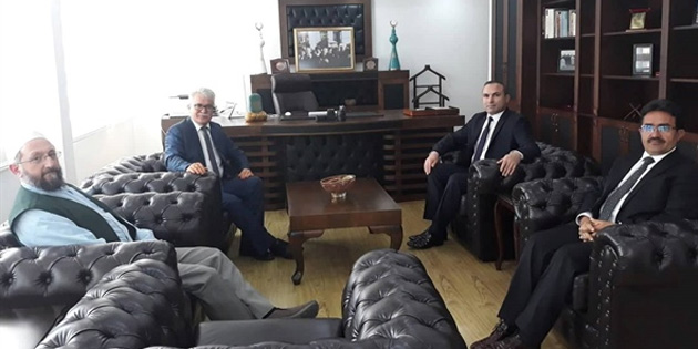 Türk Tarih Kurumu Başkan Yardımcısı Kırpık, Din İşleri Başkanı Atalay'ı ziyaret etti
