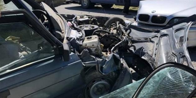 Geçitkale-Mallıdağ ana yolundaki kazada, 2'si çocuk 4 yaralı