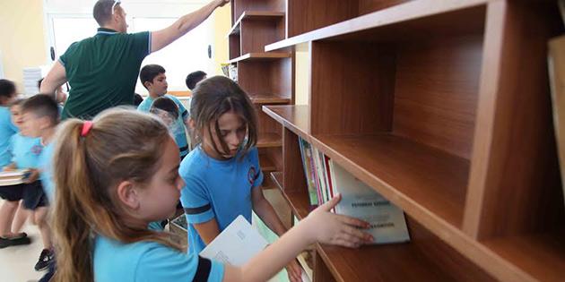 SAYTEV, Yeni Erenköy İlkokulu'nda kütüphane oluşturdu