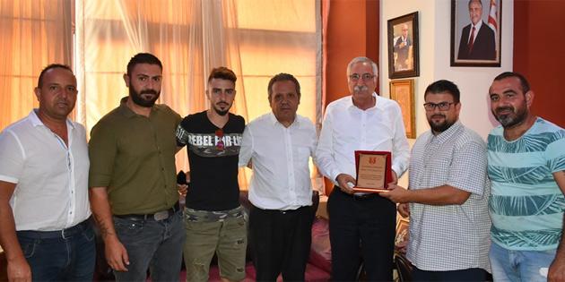 Güngördü, Ozanköy Spor Kulübü heyetini kabul etti
