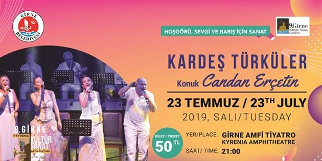 Candan Erçetin ve Kardeş Türküler Girne Amfi Tiyatro'da konser verecek