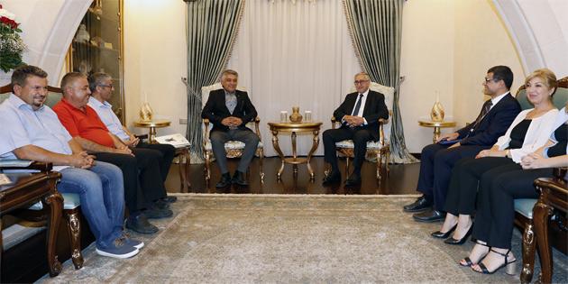 KTEZO yönetimi Cumhurbaşkanı Akıncı'ya nezaket ziyaretinde bulundu
