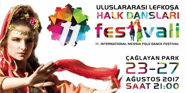 11. Uluslararası Lefkoşa Halk Dansları Festivali başladı