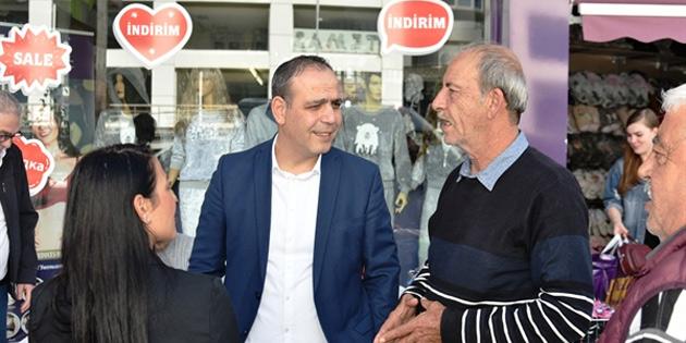 LTB Başkanı Harmancı Taşkınköy esnafını ziyaret etti