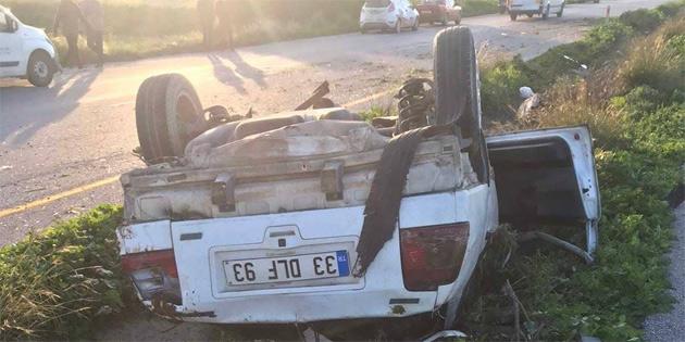 Turunçlu - İnönü Kavşağı yakınlarında kaza