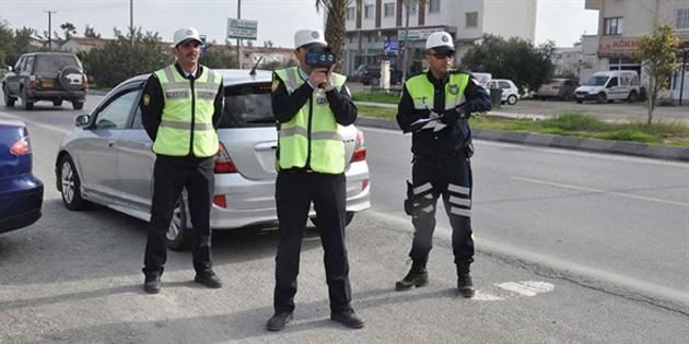 Girne'de 97, Güzelyurt'ta 65 araç sürücüsü hakkında işlem yapıldı