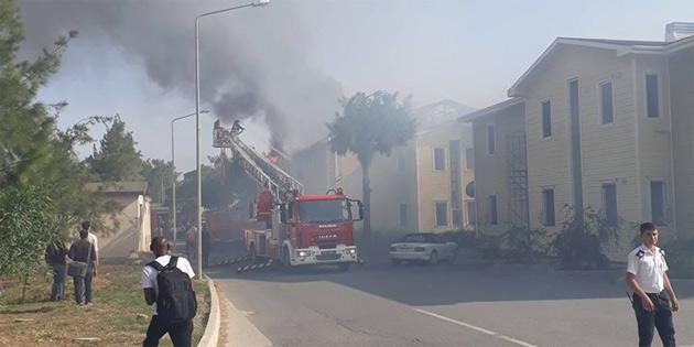 DAÜ'de yurt binasında yangın