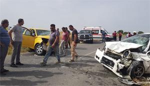 Dörtyol Türkmenköy Çemberi arasındaki yolda trafik kazası…9 kişi yaralandı