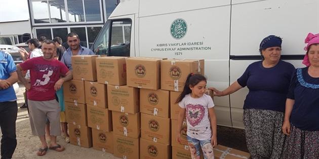 Vakıflardan bayram için 5 bin aileye gıda yardımı