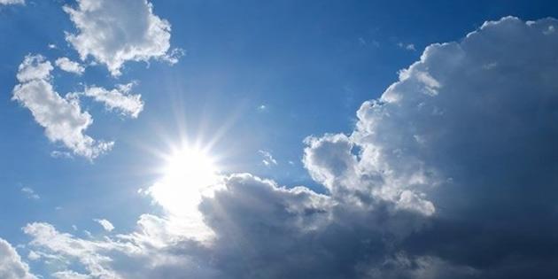 Hava genellikle az bulutlu, sıcaklık 39 derece