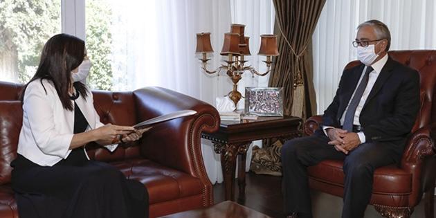 Cumhurbaşkanı Akıncı, Yüksek Yönetim Denetçisi Dizdarlı'yı kabul etti
