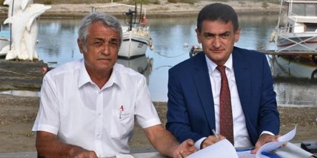 Laguna'da bulunan arazi, Gazimağusa Balıkçılık ve Su Ürünleri Kooperatifi'nin kullanımına açıldı